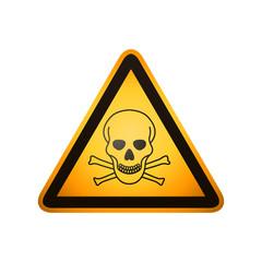 Danger sign. Skull and crossbones sign on a white background
