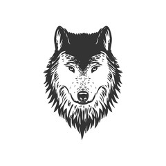 wolf face vector design