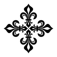Croix Fleurdelisée (Cross of Lilies), Royal heraldic cross.