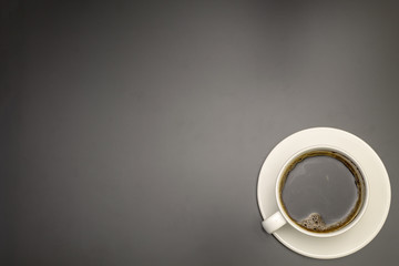 Coffee on a black table
