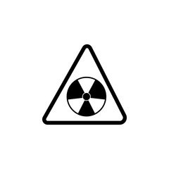 sign danger radiation icon. Element of warning for mobile concept and web apps. Icon for website design and development, app development. Premium icon