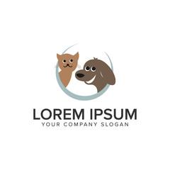 cat dog animal logo design concept template. fully editable vector