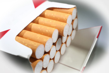 Cigarettes Close Up With White Frame High Quality Stock Photo