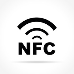 nfc icon on white background
