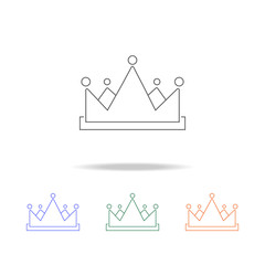 Crown icon. Element of prizes multi colored icon for mobile concept and web apps. Thin line icon for website design and development, app development. Premium icon