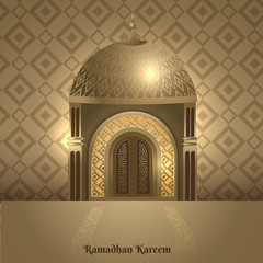 Vector illustration of Ramadan Kareem greeting card template