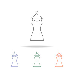 cocktail dress icon. Element of a shopping multi colored icon for mobile concept and web apps. Thin line icon for website design and development, app development. Premium icon
