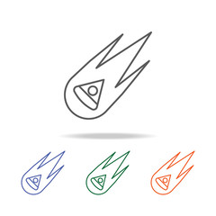 falling Space capsule icon. Element of a space multi colored icon for mobile concept and web apps. Thin line icon for website design and development, app development. Premium icon