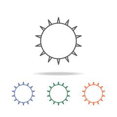 Sun icon. Element of a space multi colored icon for mobile concept and web apps. Thin line icon for website design and development, app development. Premium icon