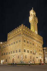 Fotomurales - Palazzo Vecchio and town hall building in Florence, Tuscany, Europe