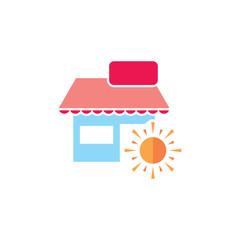 Sun Shop Logo Icon Design