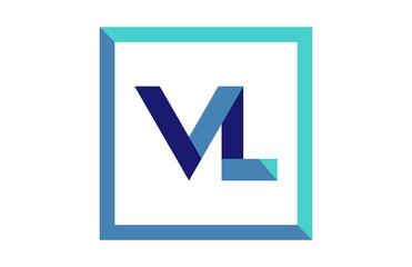 VL Square Ribbon Letter Logo