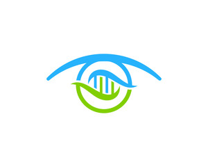 Dna Eye Icon Logo Design Element