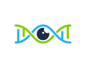 Eye Dna Icon Logo Design Element
