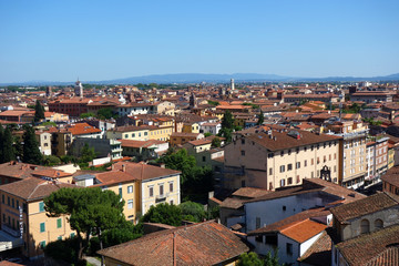 イタリア ピサの斜塔頂上からの街並み Italy Townscape from the top of the leaning tower in Pisa