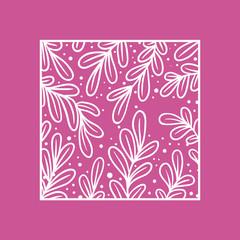 Illustration of natural frame pink