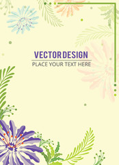 Floral Banner. Abstract floral effect background banner with text - Vector illustration