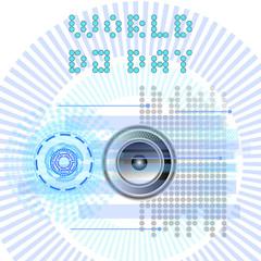 World DJ Day. Abstract vector DJ, radio, music