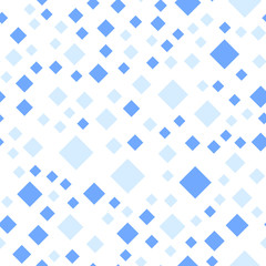 Seamless pattern background. Modern abstract and Classical antique concept. Geometric creative design stylish theme. Illustration vector. Blue tone color. Rectangle square shape