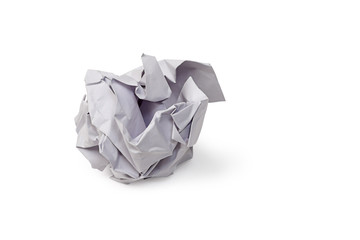 White paper rubbish isolated with clipping path.