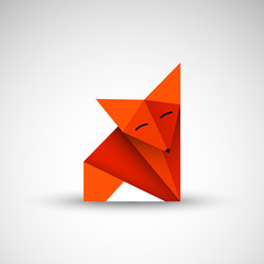 lis origami wektor