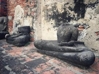 ancient remains of thai historical ,Buddha head