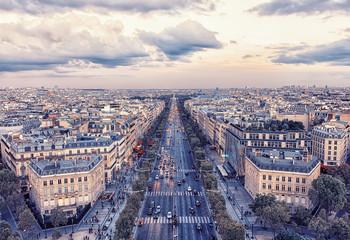 Fototapete - Champs-Elysee avenue in Paris
