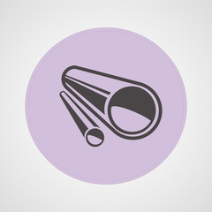 Pipe or tube isolated flat vector icon
