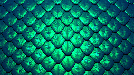 Scales of a mermaid or a dragon background