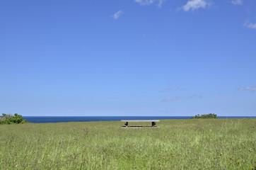 青空と草原と海 北見神威岬