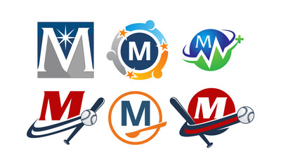 Logotype M Modern Template Set