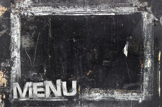 Grungy restaurant menu template