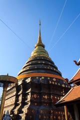 Pagoda of Wat Prathat Lampang Luang temple.