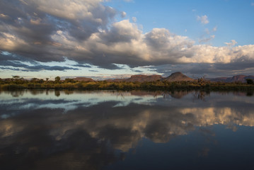 Cloud reflections in the Marataba River