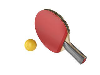Ping pong racket and ball