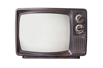 Vintage television isolated.