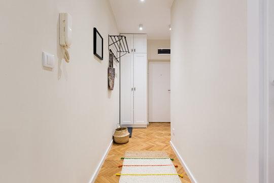 Entrance corridor with white closet