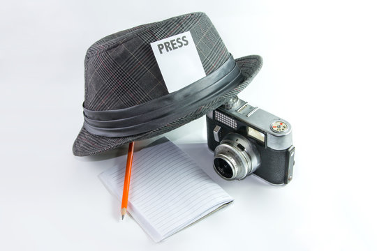 Concept of journalist or reporter
