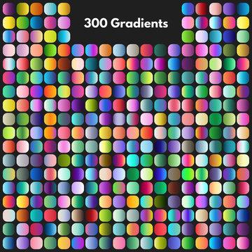Vibrant modern gradient swatches vector set