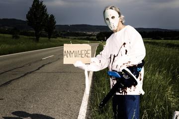 Chainsaw Murderer Hitchhiking