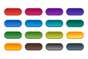 Multicolored buttons for web design