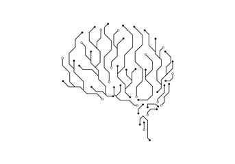 Circuit brain illustration design