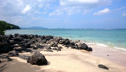 ハワイ オアフ島 ビーチ 空と海 Hawaii Oahu beach sky and sea