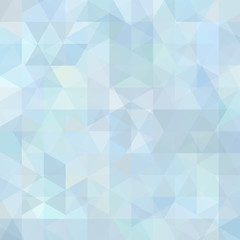 Background made of pastel blue, white triangles. Square composition with geometric shapes. Eps 10