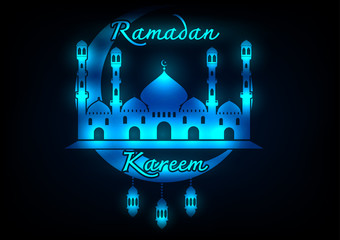 Abtract Ramadan Kareem greeting background.