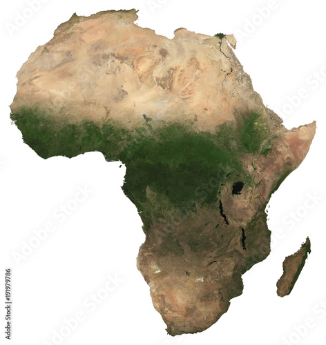 Map Of Africa From Space.Large 97 Mp Isolated Satellite Image Of Africa African Continent