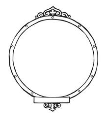 Bilder- bzw. Textrahmen rund- Picture or text frame round