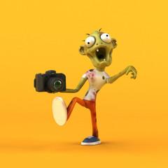 Fun zombie - 3D Illustration