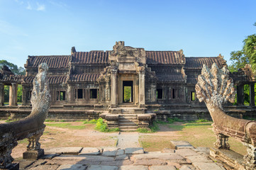 Ancient temple in Angkor Wat, Siem Rep, Cambodia