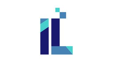 IL Digital Ribbon Letter Logo